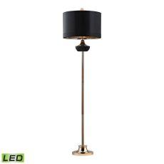 Black Ribbed Genie Led Floor Lamp