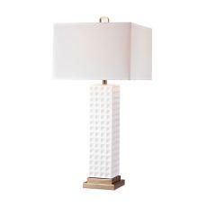 White Stud Ceramic Lamp