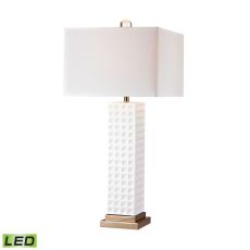 White Stud Ceramic Led Lamp