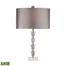 Stacked Crystal Bud Vase Led Lamp