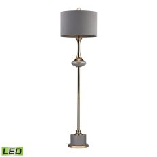 Gold Fluted Neck Led Floor Lamp