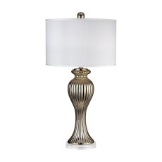 Gold Ribbed Tulip Table Lamp