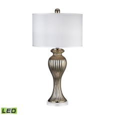 Gold Ribbed Tulip Led Table Lamp