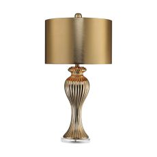 Ribbed Tulip Table Lamp In Gold