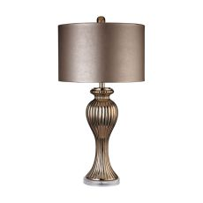 Copper Ribbed Tulip Table Lamp