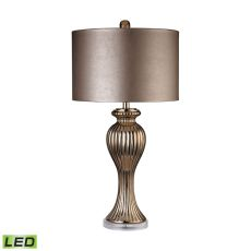 Copper Ribbed Tulip Led Table Lamp