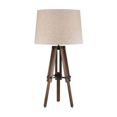 Wooden Brace Tripod Lamp