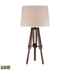 Wooden Brace Led Tripod Lamp