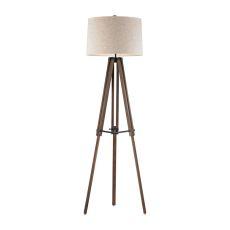 Wooden Brace Tripod Floor Lamp