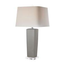 Tapered Grey Ceramic Lamp