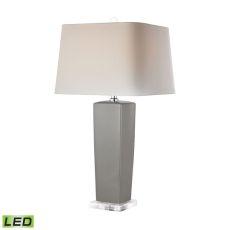 Tapered Grey Ceramic Led Lamp