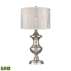 Spun Metal Led Lamp With Printed Shade