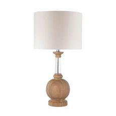 Wood And Crystal Lamp