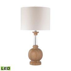 Wood And Crystal Led Lamp