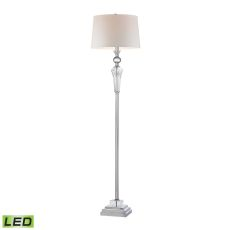 Crystal Column Led Floor Lamp With Chrome Orb