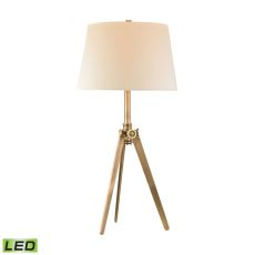 Brass Pointed Led Tripod Lamp