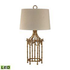 Bamboo Birdcage Led Lamp