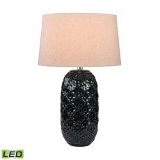 Teal Ceramic Bun Led Table Lamp