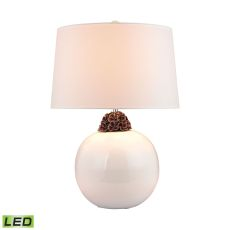Embellished Neck Ceramic Led Lamp