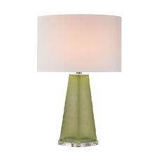 Green Skirted Glass Table Lamp