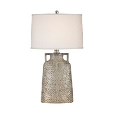 Naxos 1 Light Table Lamp In Charring Cream Glaze