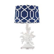 Trunk Bay 1 Light Table Lamp In Gloss White