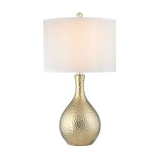 Soleil 1 Light Table Lamp In Gold Plate