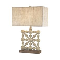 Biscay 1 Light Table Lamp In Castlebawn Stone
