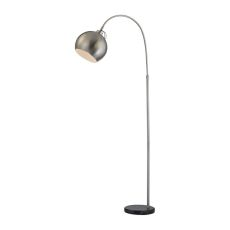 Nolita Floor Lamp In Brushed Nickel And Black