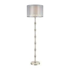 Palais Princier Satin Nickel Floor Lamp