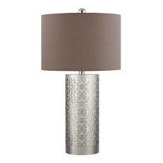 Metal Filigree Table Lamp In Polished Nickel