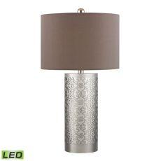 Metal Filigree Led Table Lamp In Polished Nickel