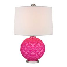 Pink Pop Glass Accent Lamp In Hot Pink