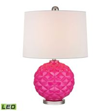 Pink Pop Glass Led Accent Lamp In Hot Pink