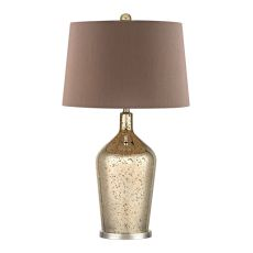 Glass Bottle Table Lamp In Gold Antique Mercury Glass