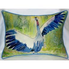 Dancing Crane Indoor Outdoor Pillow