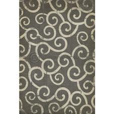 Dark Grey Swirl Pattern Vinyl Floor Cloth