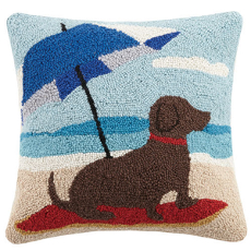 Dachshund Dog Umbrella Hook Pillow