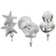 Starfish Sanddollar and Shell 3 Single Hooks