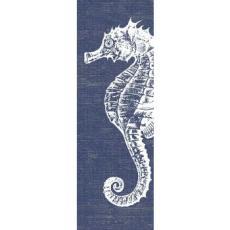 Denim Seahorse Wall Art