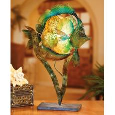 Tropical Fish Capiz Shell Electric Luminary