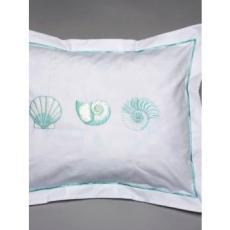 Aqua Sea Shells Boudoir Cover