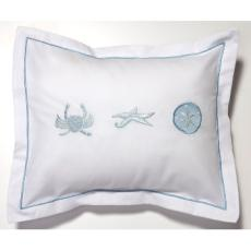 Crab, Starfish and Sand Dollar Boudoir Pillow