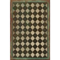 Black and White Checkers Vinyl Floor Cloth