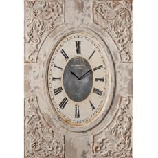 Distressed Ivory Carved Wall Clock