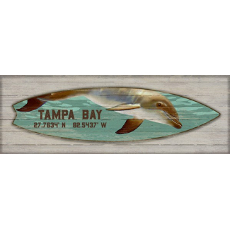 Dolphin Surfboard Wall Art