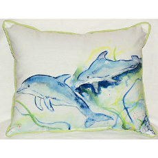 Dolphins Large Indoor Outdoor Pillow