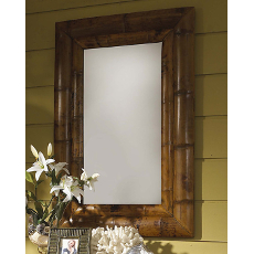 Double Frame Bamboo Mirror