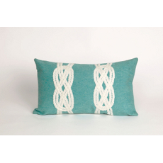 Double Knot Oblong Indoor Outdoor Pillow