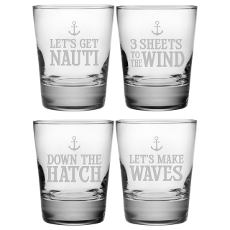 Down the Hatch Etched DOF Glass Set